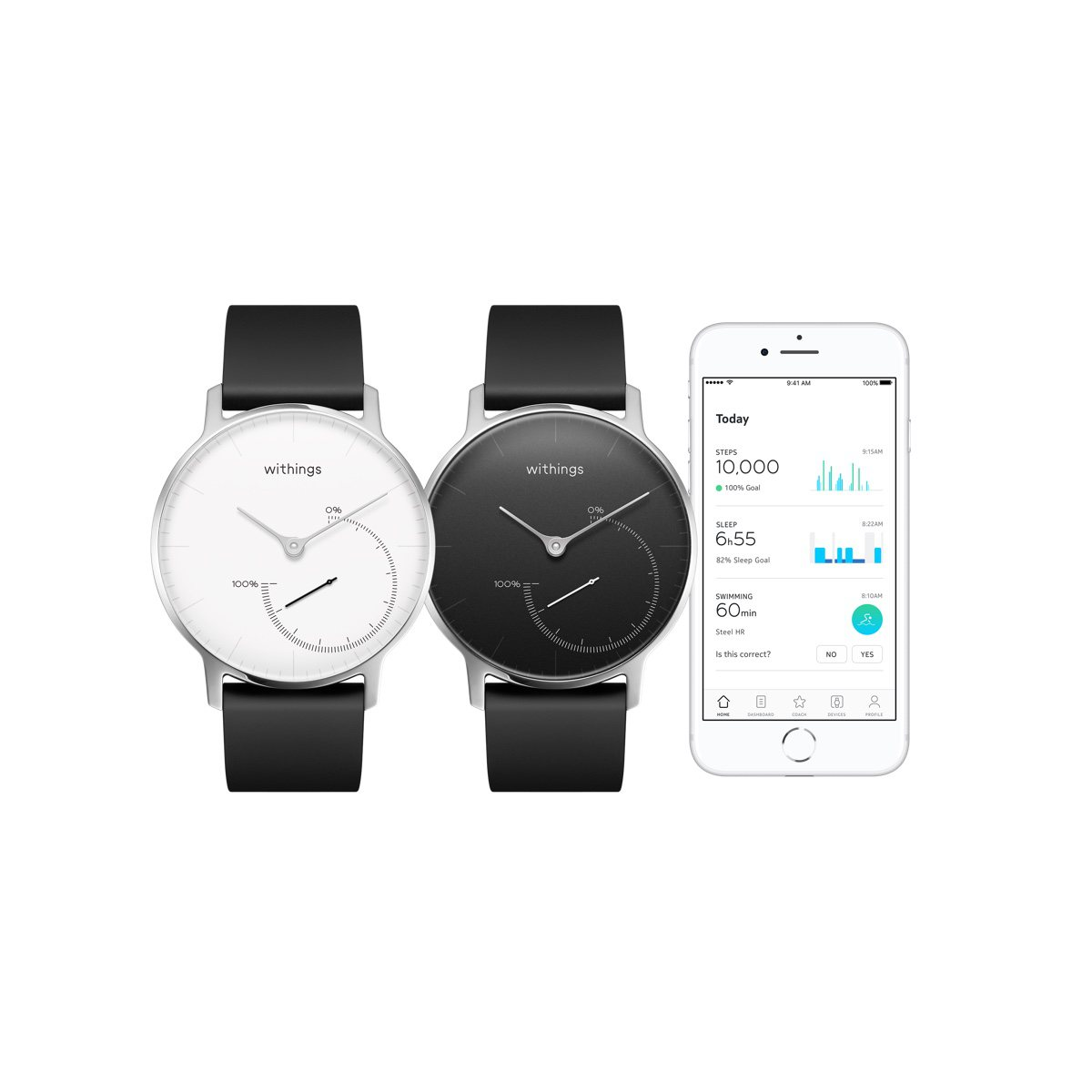 Activity & Sleep Watch | Withings - Steel
